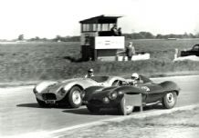 HWM & Jaguar D Type - 1955 Goodwood 18.6.55 Abecassis & Michael Head